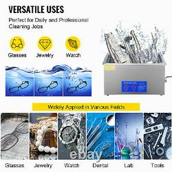 VEVOR New 22L Ultrasonic Cleaner Stainless Steel Industry Heated Heater withTimer