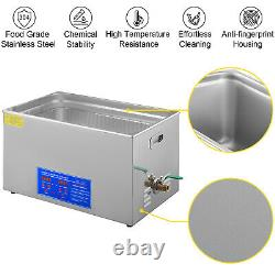 VEVOR New 30L Ultrasonic Cleaner Stainless Steel Industry Heated Heater withTimer