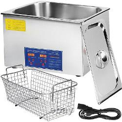 VEVOR Stainless Steel 22 L Industry Heated Ultrasonic Cleaner Heater withTimer Lab