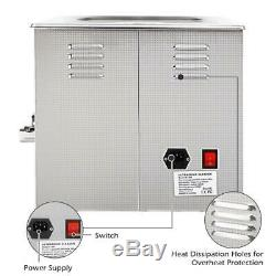 ZOKOP 15L Ultrasonic Cleaner Stainless Steel Industry Heated Heater withTimer